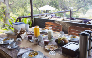 Fresh continental Breakfast at Kurhula Wildlife Lodge